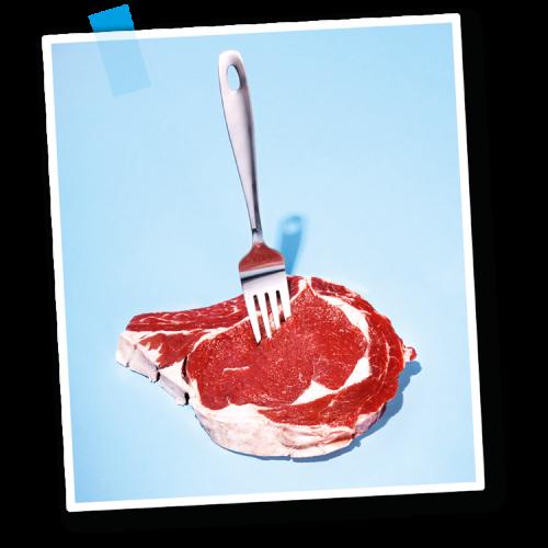 Saftiges Steak mit Gabel - Fleischerei Nolzen
